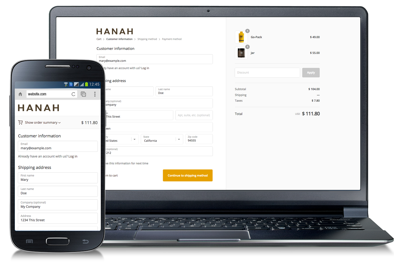HANAH Life Shopify Website